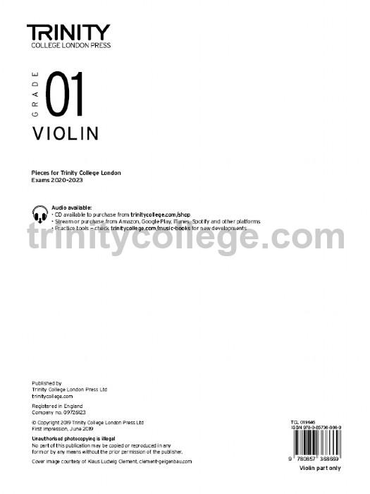 Violin Exam Pieces 2020-2023 Grade 1 Part Only Violin  Part 9781786012395