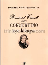 Concertino pour le basson - bassoon & piano reduction