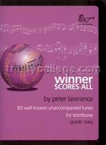 Winner Scores All for Trombone (bass clef) (book only)
