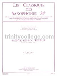 Sonata in G minor Op. 1 for Bb saxophone & piano