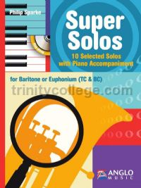 Super Solos for Baritone or Euphonium (Bass & Treble Clef)