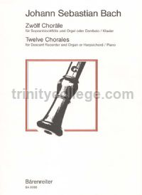 Twelve Chorales for descant recorder & basso continuo