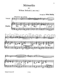 Minuet for violin & piano