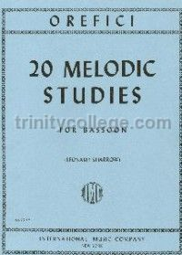 20 Melodic Studies for Bassoon