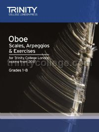 Oboe Scales, Arpeggios & Exercises Grades 1–8, from 2017