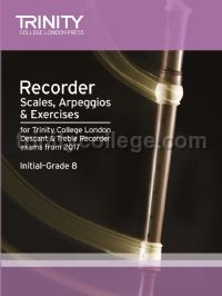 Recorder Scales, Arpeggios & Exercises Initial–Grade 8, from 2017