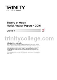 Theory of Music Model Answer Papers 2016 - Grade 4