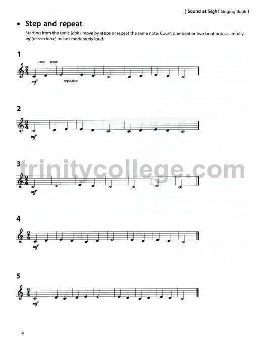 Trinity College London - Sound at Sight Singing Book 1 Initial-Grade 2