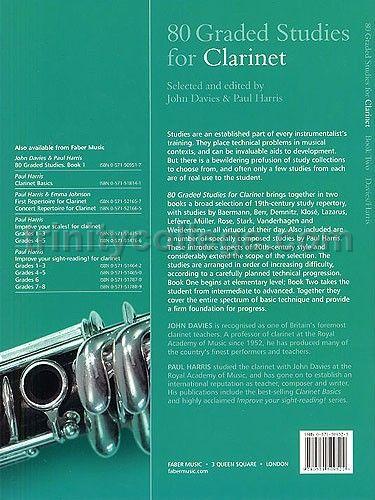 Harris 80 GRADED STUDIES FOR CLARINET Bk 1 Davies